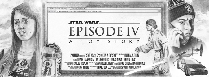 Star Wars Episode 4 - A Toy Story - Facebook Cover Poster